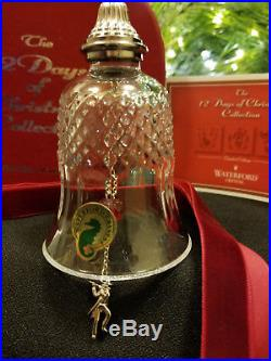 Waterford Crystal 12 Days of Christmas 11 Pipers Piping Bell Ornament MIB Mint