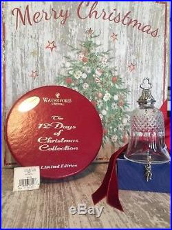 Waterford Crystal 12 Days of Christmas 11 Pipers Piping Bell Ornament Mint