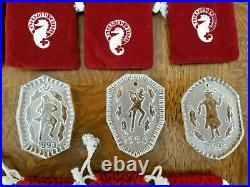 Waterford Crystal 12 Days of Christmas 12 pc Ornaments set with1982 Partridge