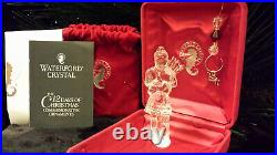 Waterford Crystal 12 Days of Christmas 2005 11 Pipers Piping Ornament MIB Mint