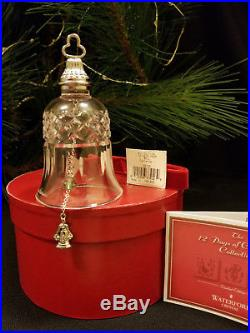 Waterford Crystal 12 Days of Christmas 8 Maids a Milking Bell Ornament Signed