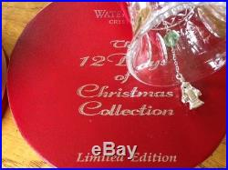 Waterford Crystal 12 Days of Christmas 8TH EDITION Bell Ornament Excellent