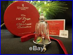 Waterford Crystal 12 Days of Christmas 9 Ladies Dancing Bell Ornament Excellent