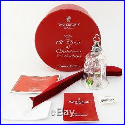 Waterford Crystal 12 Days of Christmas Bell 10th 10 Ten Lords a Leaping Ornament
