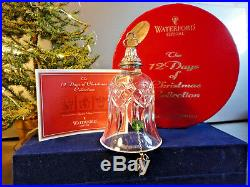Waterford Crystal 12 Days of Christmas Drummers Drumming Bell Ornament MIB