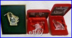 Waterford Crystal 12 Days of Christmas Figural Ornaments Set