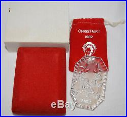 Waterford Crystal 12 Days of Christmas Ornament 1982 Partridge USED