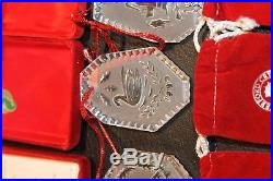 Waterford Crystal 12 Days of Christmas Ornament Lot 1986 87 88 89 90 91 92 93 94