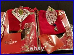 Waterford Crystal 12 Days of Christmas Ornament Set 2007 2008 2009 2010 2011