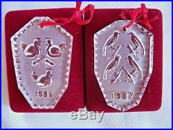 Waterford Crystal 12 Days of Christmas Ornament Set Complete 1982-1995 Box Tree