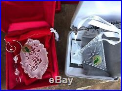 Waterford Crystal 12 Days of Christmas Ornaments incl. 1982 Lot Of 16