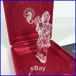Waterford Crystal 12 Days of Christmas Tree Ornament Eleven Pipers Piping 11th