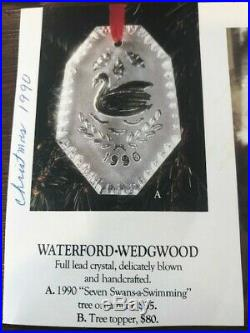 Waterford Crystal 12 Days of Christmas ornaments complete set 1978 to 1995