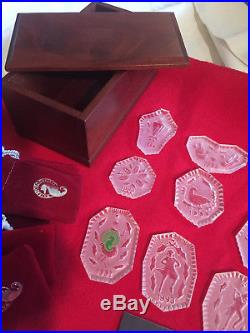 Waterford Crystal 12 Twelve Days of Christmas Ornaments 1984 to 1995 12 Pieces