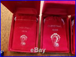 Waterford Crystal 18 pc set 12 Days of Christmas Ornaments inc 1982 Partridge A+