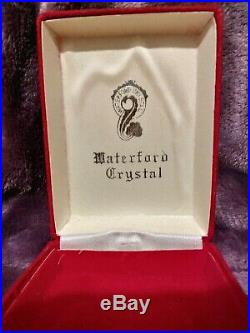 Waterford Crystal 1982 PARTRIDGE in A PEAR TREE 12 Days Christmas Tree Ornament