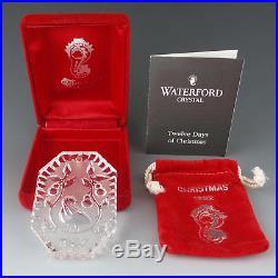 Waterford Crystal 1982 PARTRIDGE in A PEAR TREE 12 Days Xmas Tree Ornament MIB