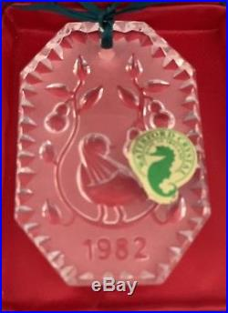 Waterford Crystal 1982 PARTRIDGE in a PEAR TREE 12 Days Of Christmas Ornament