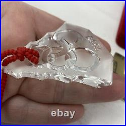 Waterford Crystal 1999 Five 5 Golden Rings Ornament Christmas 5th Edition