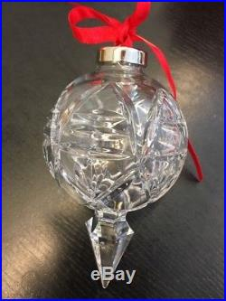 Waterford Crystal 2001 10th Annual Ball Spire Christmas Tree Ornament Euc