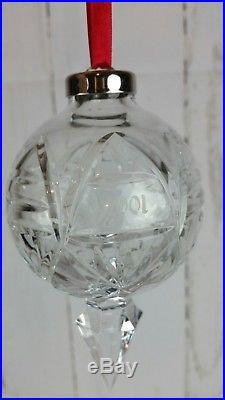 Waterford Crystal 2001 Annual Ball Ornament- 10th Edition Rare Christmas