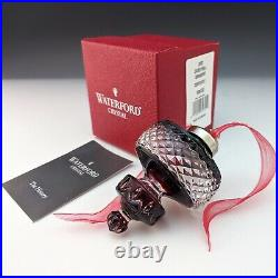 Waterford Crystal 2002 Ball Ornament Ruby Red Cased Spire is very special