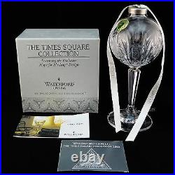 Waterford Crystal 2002 Hope For Healing Times Square Ball Ornament MIB Candle