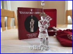 Waterford Crystal 2005 12 Days Of Christmas Ornament 11 Pipers Mib With Sleeve