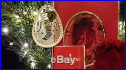 Waterford Crystal 2009 Twas the Night Before Christmas Stocking Ornament NEW NIB