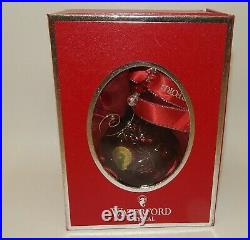 Waterford Crystal 2011 Ruby Red Cased Ball Christmas Ornament Mint in Box