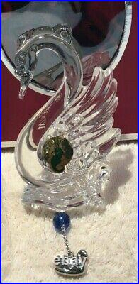 Waterford Crystal 2013 12 Days of Christmas 7 Swans Ornament with enhancer