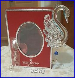 Waterford Crystal 2013 Twelve Days of Christmas 12 Swans-a-Swimming Ornament
