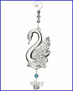 Waterford Crystal 2013 Twelve Days of Christmas 12 Swans-a-Swimming Ornament MIB