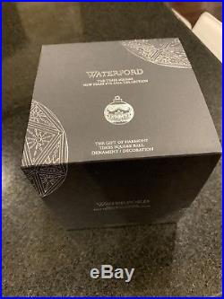 Waterford Crystal 2019 Times Square Ball Gift of Harmony Christmas Ornament