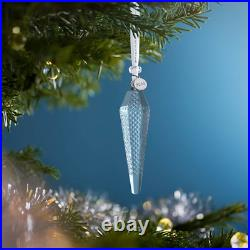 Waterford Crystal 2020 Set Of 3 Icicle Christmas Ornaments Nib