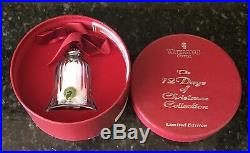 Waterford Crystal 9 Ladies Dancing Bell Ornament 12 Days of Christmas