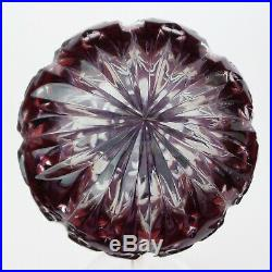 Waterford Crystal AMETHYST Purple Cased to Clear Xmas Tree Ball Ornament Sweet