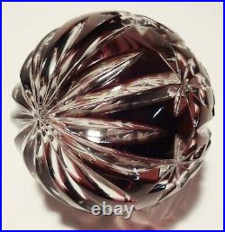 Waterford Crystal Amethyst Christmas Ball Ornament