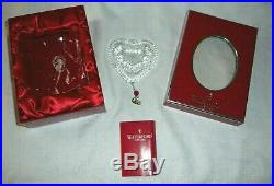 Waterford Crystal Annual 2008 TURTLE Dove Ornament & Charm 12 Days of Xmas MIB