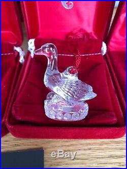 Waterford Crystal Birds 12 Days of Christmas Tree Ornament 1996, 98, 2000, 2001
