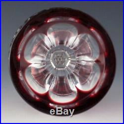 Waterford Crystal CLARENDON Ruby RED Cased Tree Top Topper Xmas Ornament Star