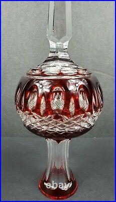Waterford Crystal CLARENDON Ruby RED Cased Tree Topper Christmas Ornament MIB