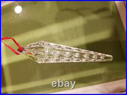 Waterford Crystal Christmas Icicle Ornaments set of 3 New in box