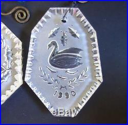 Waterford Crystal Christmas Ornament Partridge In Pear Tree Twelve Days & Others
