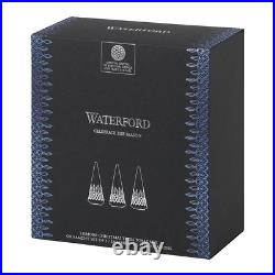 Waterford Crystal Christmas Tree Set/3 4.9 Topaz Ombre Mix NIB SALE 30%