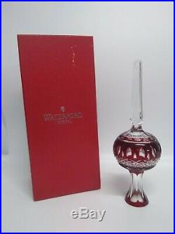 Waterford Crystal Clarendon Ruby Red Cased Christmas Tree Topper Star Ornament