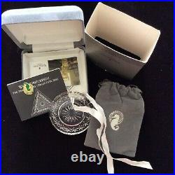 Waterford Crystal Disk Ornaments Times Square Collection 2001 2004 MIB