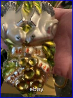 Waterford Crystal Five Golden Rings Blown Glass Christmas 12 Days NIB