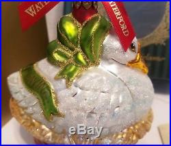 Waterford Crystal Holiday Heirlooms 12 Days Christmas Ornament 6 Geese a Laying