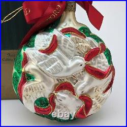 Waterford Crystal Holiday Heirlooms 4 Four CALLING BIRDS 12 Days Xmas Ornament
